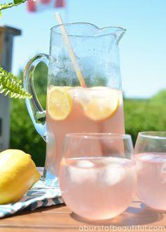 Sparkling Pink Lemonade - Perfect Summer Drink #dan330 http://livedan330.com/2015/07/08/sparkling-pink-lemonade/