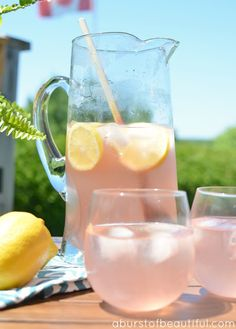Sparkling pink lemonade is the perfect summer drink | A Burst of Beautiful