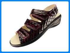 Algemare Damen Sandalette Chianti Kroko Keilpantolette mit Algen-Kork Wechselfußbett Made in Germany 2317_5117, Größe:38 - Clogs für frauen (*Partner-Link)