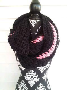 Chunky Infinity Big Scarf Oversized Scarf Large Scarf Bulky Scarf Winter Scarf Crochet Knit Bulky Bohemian Chunky Cowl