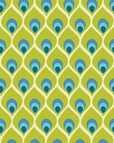 Peacock feather pattern - Noelle O'Reilly. i dig this color scheme for an energetic home office.