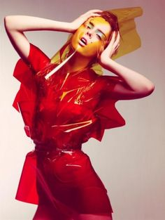 Plastic fantastic - Red - Fashion Photography - Futuristic