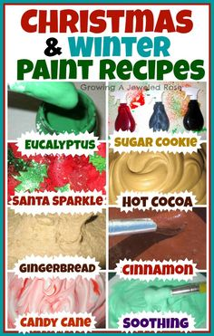 A collection of  Holiday & Winter Paint Recipes