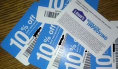 using lowes 10 coupon at home depot