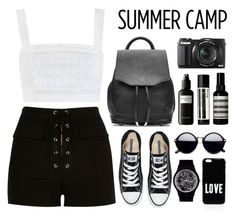 """""""#031: summer camp"""" by selenawil ❤ liked on Polyvore featuring River Island, Zimmermann, rag & bone, Converse, May28th, Givenchy, G1, David Mallett, Aesop and summercamp"""