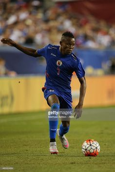 Wilde-Donald Guerrier #7 of Haiti during the CONCACAF Gold Cup match between USA and Haiti at Gillette Stadium on July 10, 2015 in Foxboro, Massachusetts.