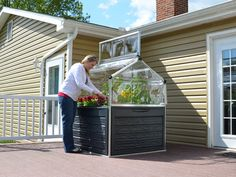 Plant Inn Greenhouse - Silver/Black - Palram This Palram Plant Inn is the ideal way to give your pla What Is Greenhouse, Greenhouse Farming, Greenhouse Cover, Large Greenhouse, Build A Greenhouse, Greenhouse Growing, Greenhouse Ideas, Building Raised Garden Beds, Greenhouse Interiors
