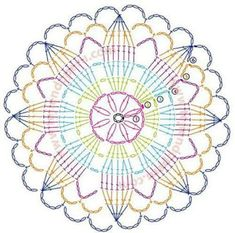 Fantastic Absolutely Free Crochet Doilies motif Thoughts Although many of the doilies that you see in stores today are manufactured from paper or machine lac Crochet Rug Patterns, Crochet Motifs, Crochet Doilies, Crochet Flowers, Crochet Stitches, Granny Square Häkelanleitung, Granny Square Crochet Pattern, Crochet Diagram, Granny Squares