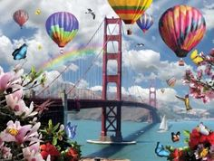 this is what my dreams look like. #balloons #goldengatebridge
