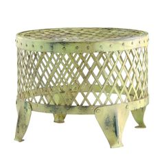 Painted Metal Stool
