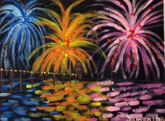 fireworks, Artsonia Art Museum :: Artwork by Samantha11977