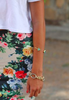 white & floral