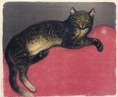 L'Hiver Chat Sur Un Coussin (1909) (C 293)m Theophile Steinlen