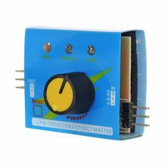 CCPM SERVO Consistency Master Server Test - Blue + Black. Specifications: Output: </=15mA (5.0); Input: DC 4.2~6.0V; Output Signal: 1.5ms +/-0.5ms; In three modes to check 1~3 servos or ESC: Manual mode / Automatic window wiper mode / Neutral mode. Features: Can easily detect and set the server; Can connect two sets of servos or ESC; Single-chip microcomputer control, good stability, high precision. Rotate knob, can detect steering gear; If connect electronic speed regulator, it will get rid…