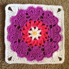 Heart flower mandala squared