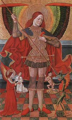 The Archangel Michael by Juan de la Abadia, c. 1490.