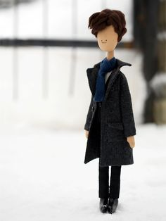 Sherlock Holmes  handmade doll from BBC series por LilFandom, $70,00