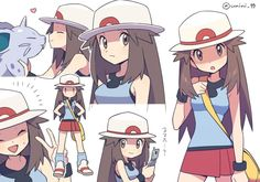Pokemon Memes, Pokemon Fan Art, Cute Pokemon, Pokemon Rouge, Pokemon Original, Pokemon Adventures Manga, Green Pokemon, Pokemon Waifu, Pokemon People