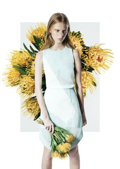 Advertisement with flowers | Fashion + Photography | Cameo the Label | Design/Photo: Henry Hudson |