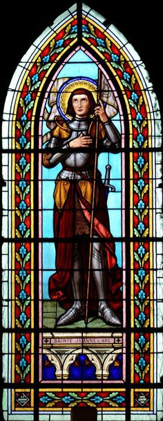 Jeanne D'Arc Stained Glass Window.
