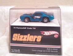 Hot-Wheels-Sizzlers-039-70-Plymouth-Cuda-T-A-K4778-Built-In-Motor-Blue-2006-New. Great brand new Hot Wheels Sizzlers collectible car. http://stores.ebay.com/Treasure-State-Toys