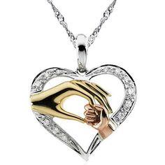 Mother Baby Heart Pendant Mom Daughter Son Child Family Love Cubic Zirconia Necklace Moms Jewelry Birthday Gift With Box N127 *** Menemukan produk serupa dengan mengklik tombol KUNJUNGI