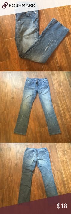 """Delia's Morgan Semi-Distressed Skinny Jeans These semi-distressed skinny jeans make light-washed denim edgy again! """"Long"""" length (35 inch inseam) and are a bit more relaxed than an average skinny jean. These bad boys are just waiting to meet your favorite top. Delia's Jeans Skinny"""
