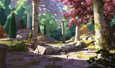 Today at (CEST), will be on twitch for a live painting on the environments of Forest of Liars ! Forest of Liars : remains of the past Landscape Concept, Fantasy Landscape, Landscape Art, Environment Concept Art, Environment Design, Fantasy World, Fantasy Art, Fantasy Setting, Landscape Drawings