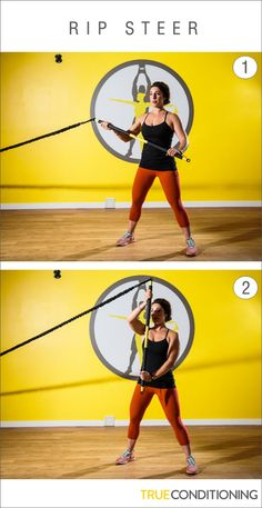Get sculpted arms and a stronger core with the TRX Rip Steer