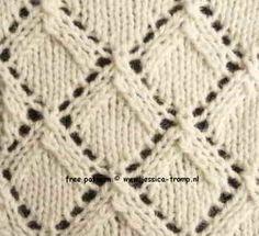 breisteken ajour breipatronen lace patterns knitting stitches knitstitch