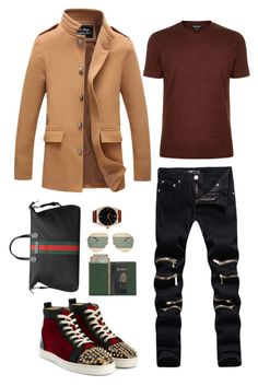 """Chris"" by msheah-1 on Polyvore featuring Gucci, Christian Dior, Christian Louboutin, Giorgio Armani, Rolex, Royce Leather, men's fashion and menswear"