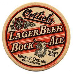 Ortiebs Logo Vintage, Vintage Labels, Retro Vintage, Beer Labels, Bottle Labels, Sous Bock, Old Beer Cans, Bar Coasters, Adirondack Park