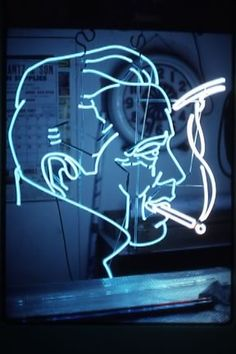Bogart #1 neon by artist Pacifico Palumbo