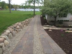 Brick pavers by All Natural Landscapes of Hartland Michigan Hartland Michigan, Brick Paver Patio, Wall Design, Sidewalk, Nature, Landscapes, Courtyards, Paisajes, Naturaleza