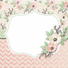 Vintage Diy, Boarders And Frames, Text Frame, Diy And Crafts, Paper Crafts, Free Digital Scrapbooking, Binder Covers, Printable Labels, Floral Printables