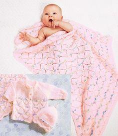 Create this beautiful 3 piece set, blanket, cardigan