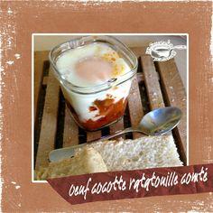 Oeufs cocottes ratatouille et comté cuisson avec ou sans multi délices de Seb Ratatouille, Casseroles, Carole, Oatmeal, Brunch, Dairy, Pudding, Cheese, Breakfast