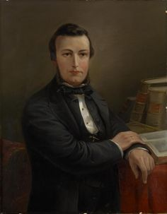 Dr Maund 1863 Nicholas CHEVALIER oil on canvas.
