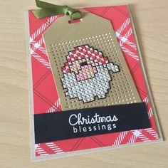 Hoy es #juevesdetarjetitas y aunque ya es una tarjeta un poco atrasada para estas fechas, quería compartirla con ustedes.... ¿que le pedirán a los reyes magos? Yo estoy pensando en una impresora de fotos y ustede? #mftstamps #santaclaus #papersmooches #dienamics Tiny Cross Stitch, Cross Stitch Needles, Counted Cross Stitch Patterns, Cross Stitch Embroidery, Cross Stitch Christmas Cards, Cross Stitch Cards, Christmas Cross, Stitching On Paper, Cross Stitching