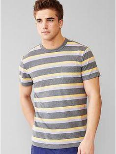 Marled multi-stripe t-shirt | Gap