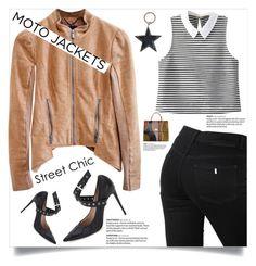 """After Dark: Moto Jackets"" by anne-symanski-goranson ❤ liked on Polyvore featuring BCBGMAXAZRIA, STELLA McCARTNEY, Givenchy, WardrobeStaples, fallstyle and motojackets"