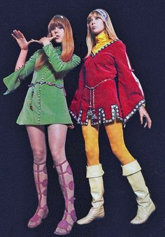 60's Fashion.  Velvets, Tights, & Boots.