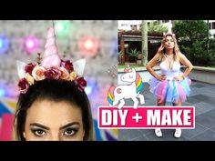(113) DIY FANTASIA E MAKE UNICÓRNIO #Carnaval | Kathy Castricini - YouTube