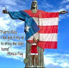 FELICITACIONES PUERTO RICO!La tenista Mónica Puig ofrenda a su maravilloso país el 1er. oro olímpico de su historia! @atilioboron