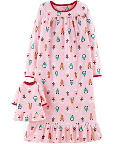 6f2c3c6121 Christmas Matching Nightgown   Doll Nightgown Set