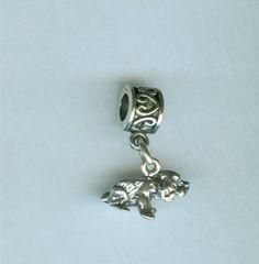 Sterling COCKER Spaniel Dog Bead Charm for by ShymaliLlamas, $14.00