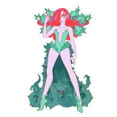 ArtStation - Paper Dolls of Harley and Ivy, Mindy Lee Girl Inspiration, Character Design Inspiration, Gotham, Poison Ivy Dc Comics, Sci Fi Horror, Batman Art, Visual Development, Girls Characters, Comic Artist