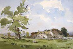 James Fletcher-Watson Watercolor Class, Landscape Paintings, Lovers Art, Painting Illustration, Tree Painting, Painting, Watercolor Architecture, Watercolor Landscape Paintings, Watercolour Inspiration