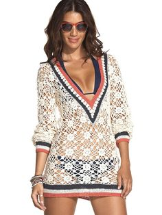 Crochet swim coverup