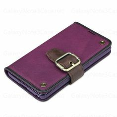 Vintage Earl Series Stand Leather Cover Case for Galaxy Note 3 N9000 Purple